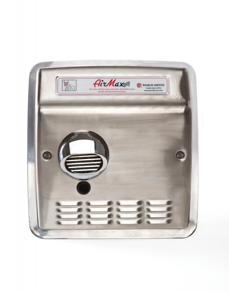 AirMax Hand Dryer Finish: Brushed Stainless Steel, Voltage: 208-240 V
