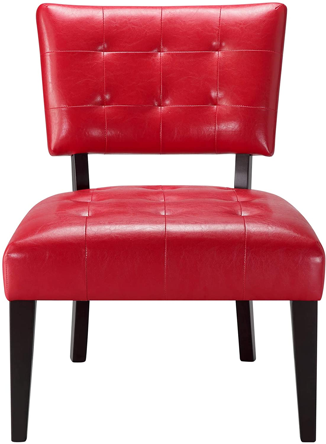 Ball & Cast Accent Chair, Red