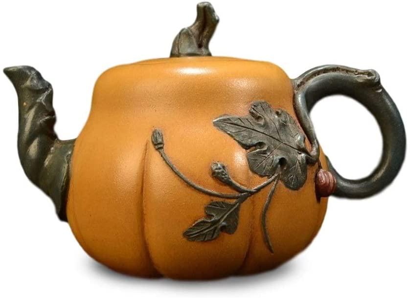MADONG Teapot pumpkin pot (Color : Brown)