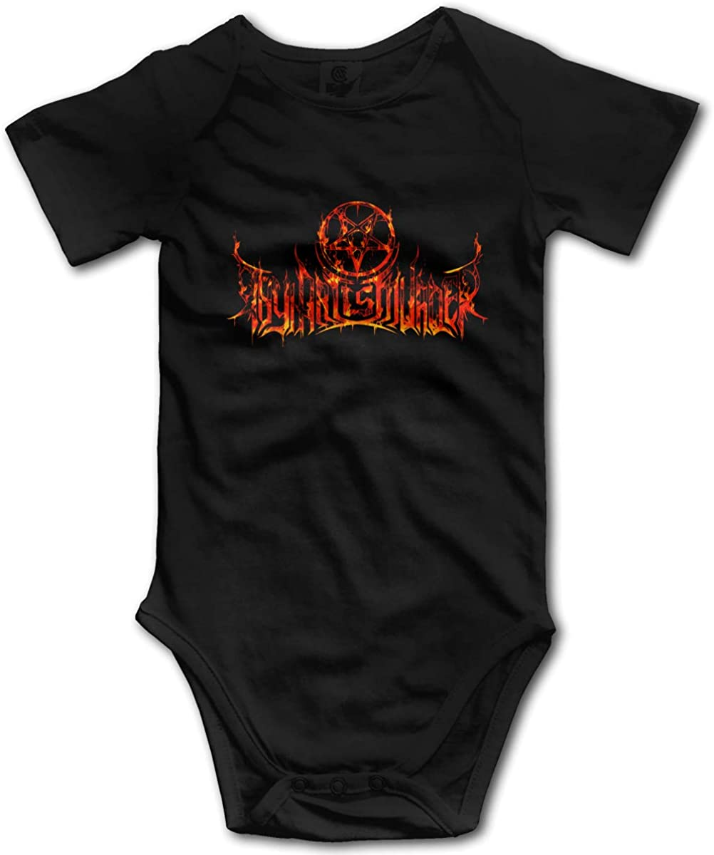 Thy Art is Murder Newborn Baby Romper Boys and Girls Romper Black