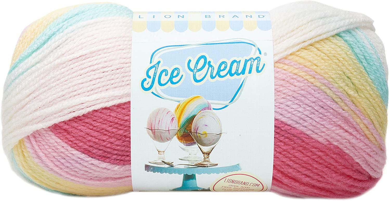 Lion Brand Yarn 923-206 Ice Cream Yarn, Tutti Frutti
