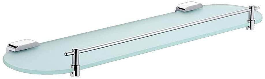 Mr. Bathroom Bathroom Shelves Tempered Glass Copper Wall-Mounted Shower Organiser Basin Bathroom (Size : 530x131x26mm)