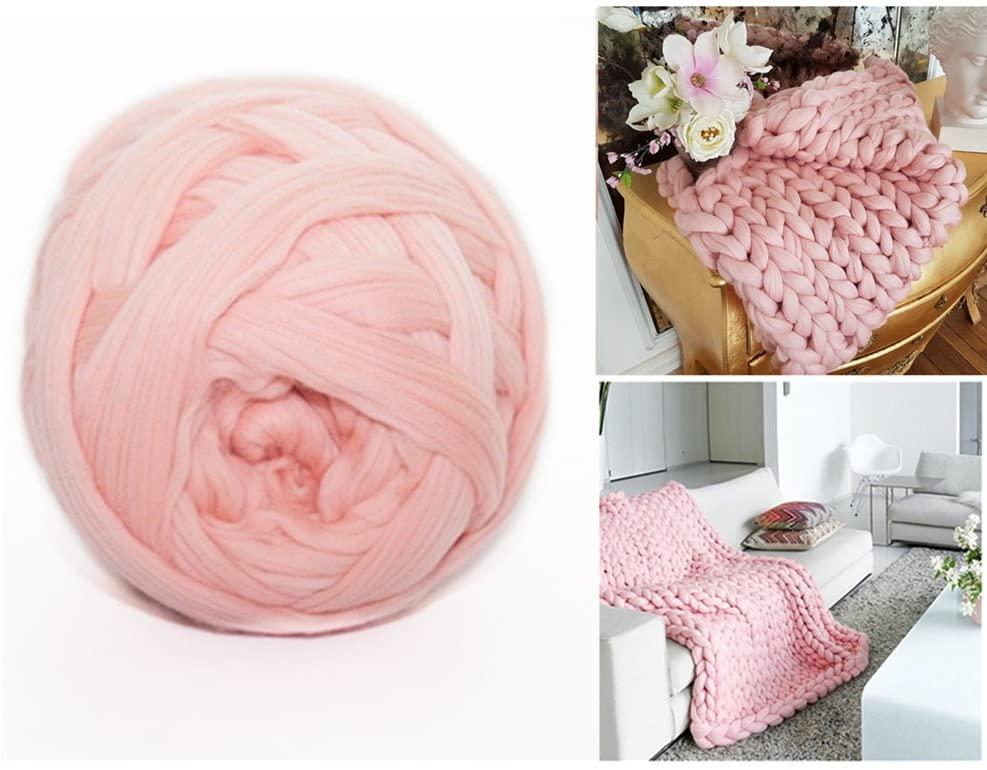 Arm Knitting Yarn Chunky Wool Yarn Bulky Wool Yarn Giant Knit Yarn Extreme Knitting (1.1lbs/0.5kg, Pink)