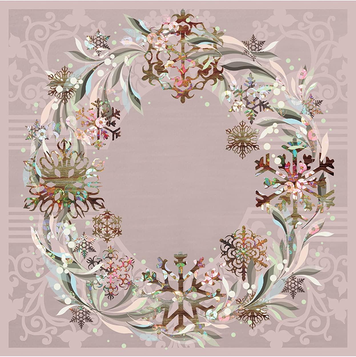 Large Pastel Wreath Paper Napkin 20Pk