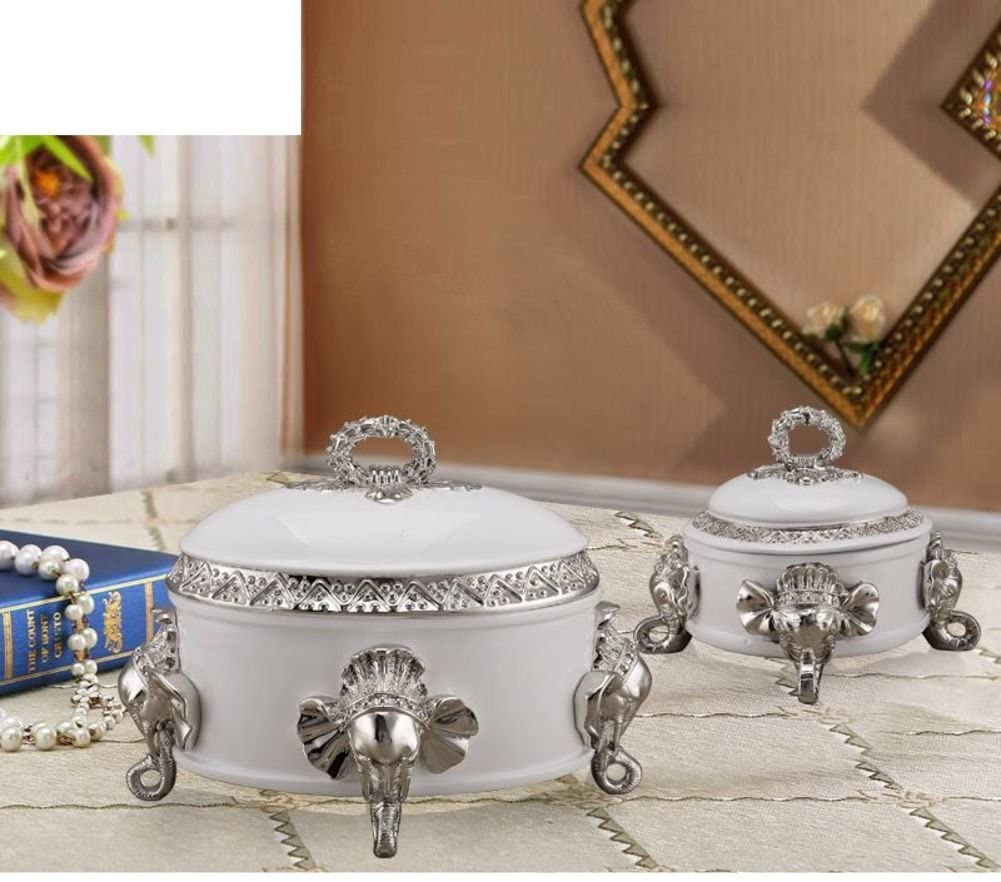 European elephant jewelry box decoration storage box model jewel box home soft decoration bedroom furniture-F