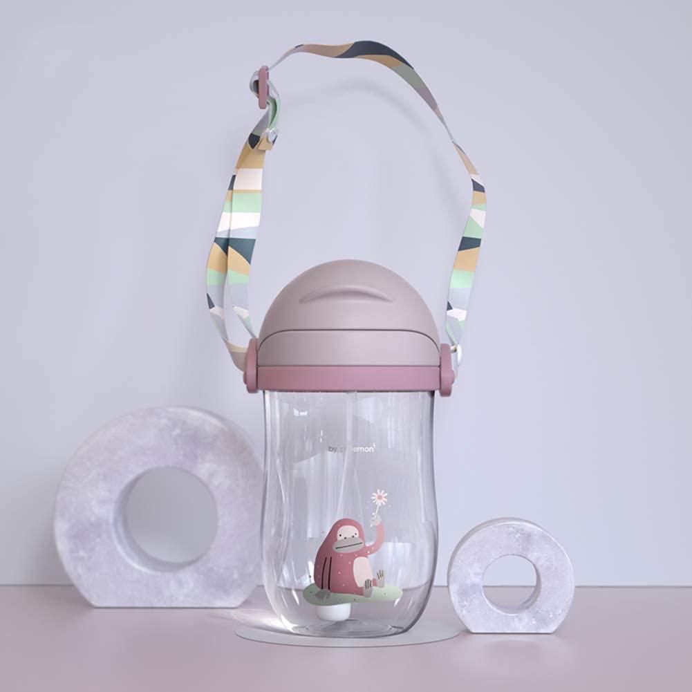 qwqqaq Bpa-Free Kids Cup with Straw,bite Resistant Spout Water Jug Leak-Proof Drinks Bottle Crack-Resistant Drinkware Multiple Color Water Bottle-Purple 360ml