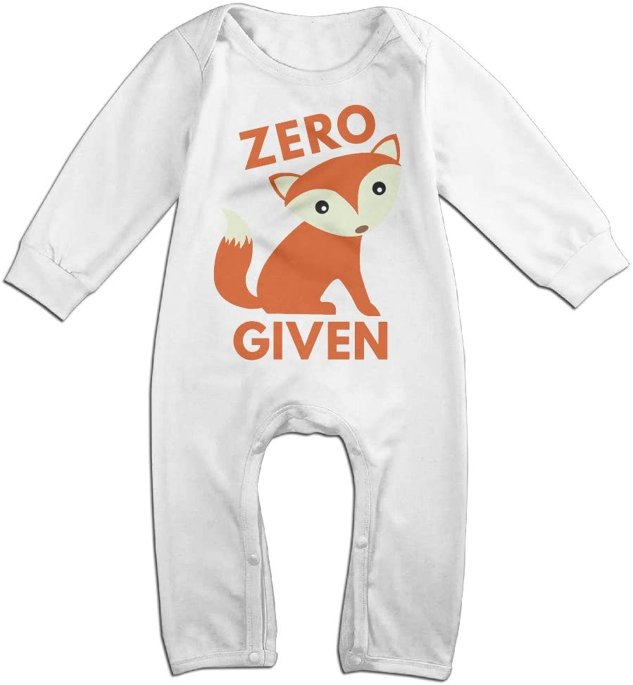 Kamici Baby Zero Fox Given Long Sleeve Romper Suit Climb Clothes White