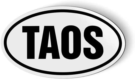 Stickers & Tees Taos New Mexico Oval - Car Magnet - 5