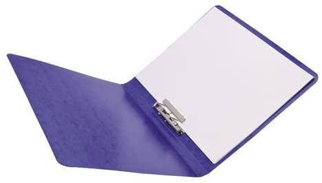 PRESSTEX Grip Punchless Binder With Spring-Action Clamp, 5/8'' Cap, Dark Blue