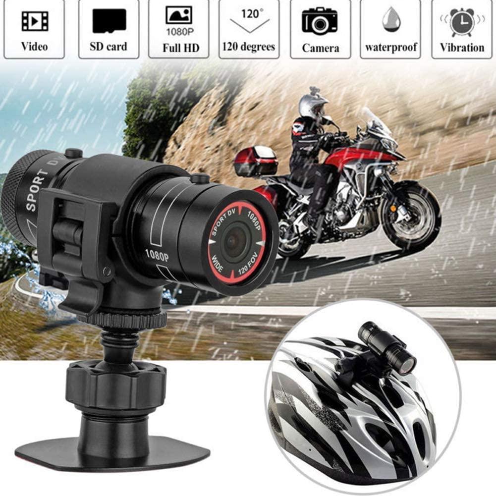 QK Motorcycle Bike Camera Full HD 1080P Mini Sports DV Camera Bike Motorcycle Helmet Action DVR Video Cam for Outdoor Sports