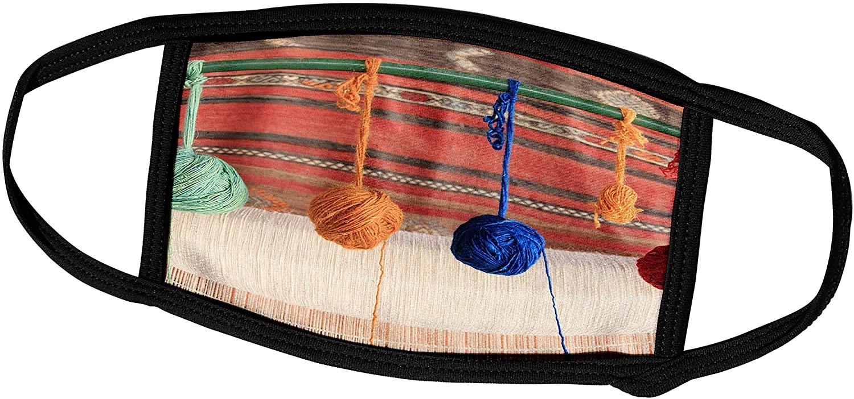 3dRose Danita Delimont - Textiles - Turkey, Selcuk, Weaving Loom, Rug Making, Balls of Wool or Yarn. - Face Masks (fm_312873_2)