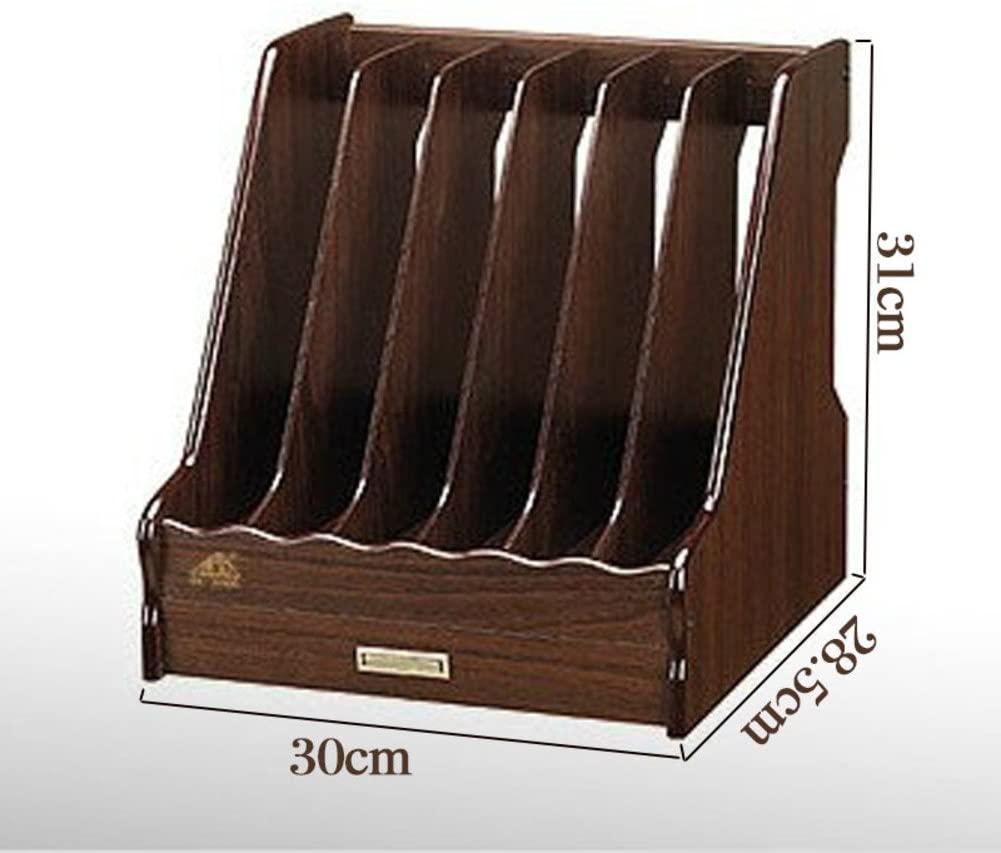 XDDAXYY Desktop Organizer,Wooden Document Rack Creative File Holder Magazine Rack Office Supplies Storage Box-i