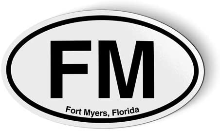 Stickers & Tees FM Fort Myers Florida Oval - Car Magnet - 5
