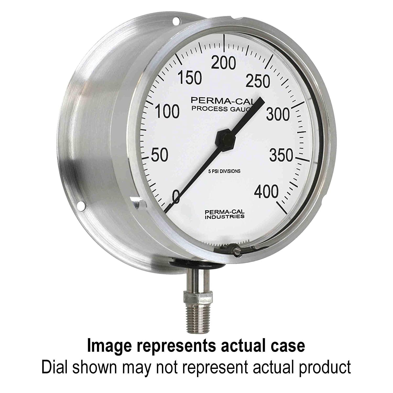 Compound Gauge, Military Grade, Gearless, Process, 30inHg-0-400 psi, 4.5