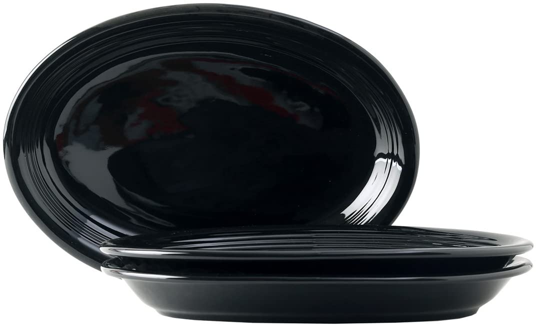Tuxton Home Concentrix Oval Platter (Set of 3), Coupe 13 1/2
