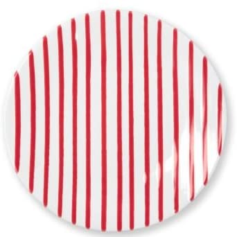 Vietri Stripe Red Salad Plate