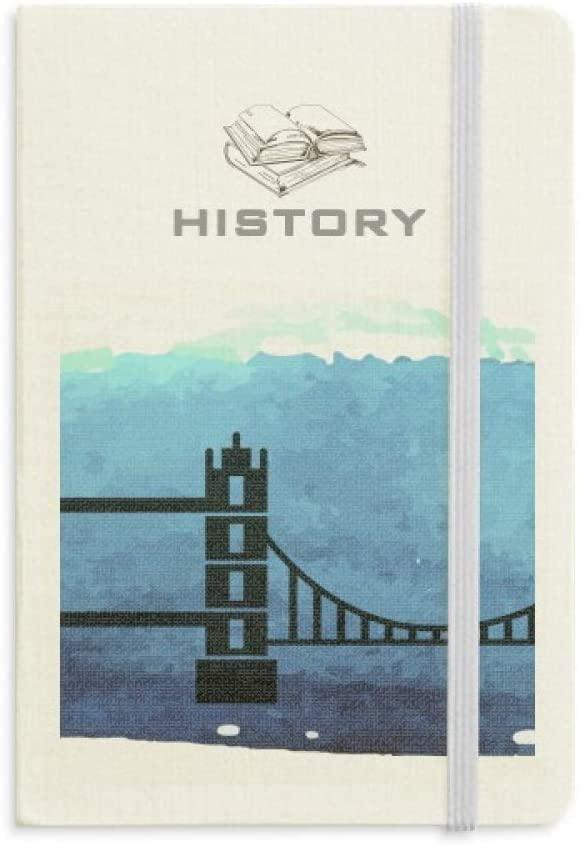 Tower Bridge London England Britain UK History Notebook Classic Journal Diary A5