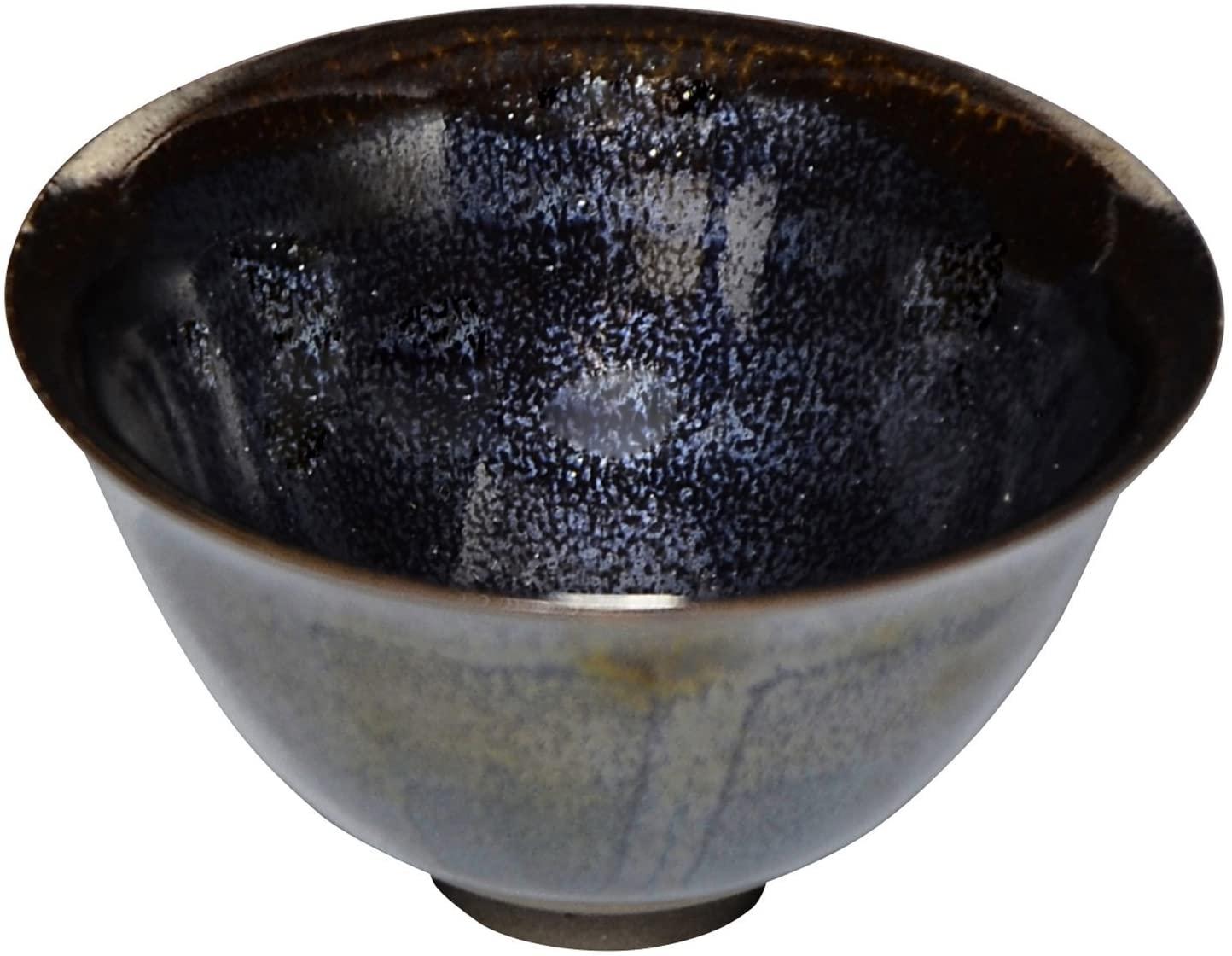 KIYOMIZU Ware TOHAN Kiln SAKE Cup (Wooden Box) TENMOKU