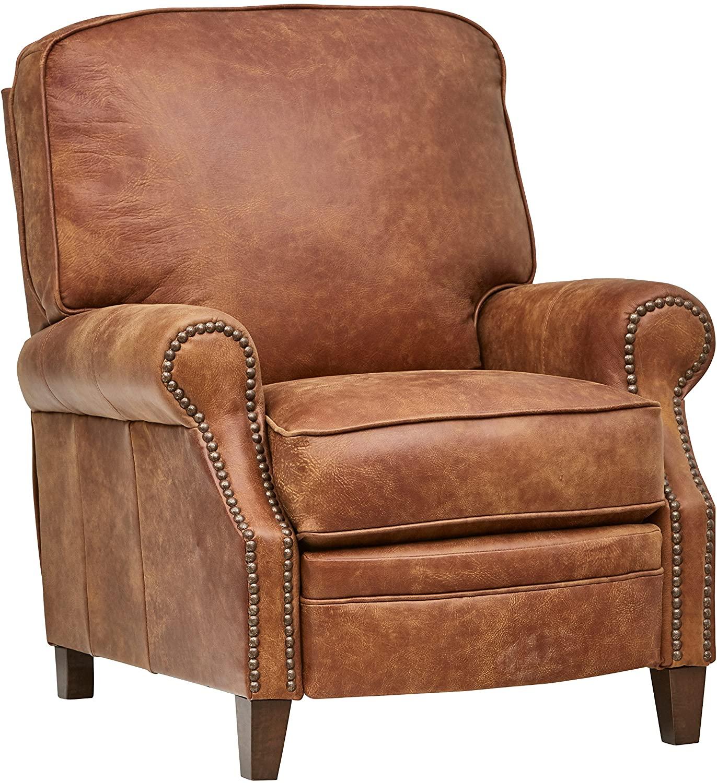 DHgate Brand – Stone & Beam Jameson Farmhouse Leather Recliner, 36