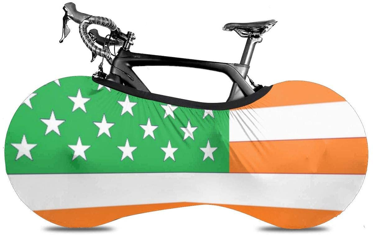Speed FQ Irish American Flag Bicycle Wheel Cover Portable Bicycle Bike Covers