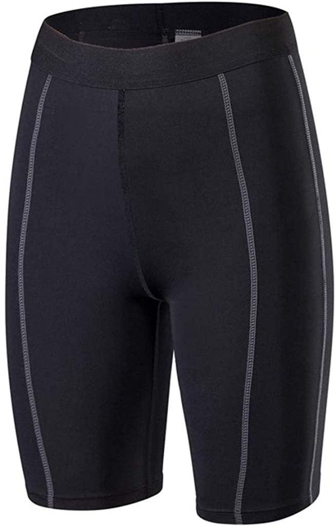 Hessimy High Waist Workout Shorts,Tummy Control Yoga Gym Running Shorts,Non See-Through Yoga Shorts