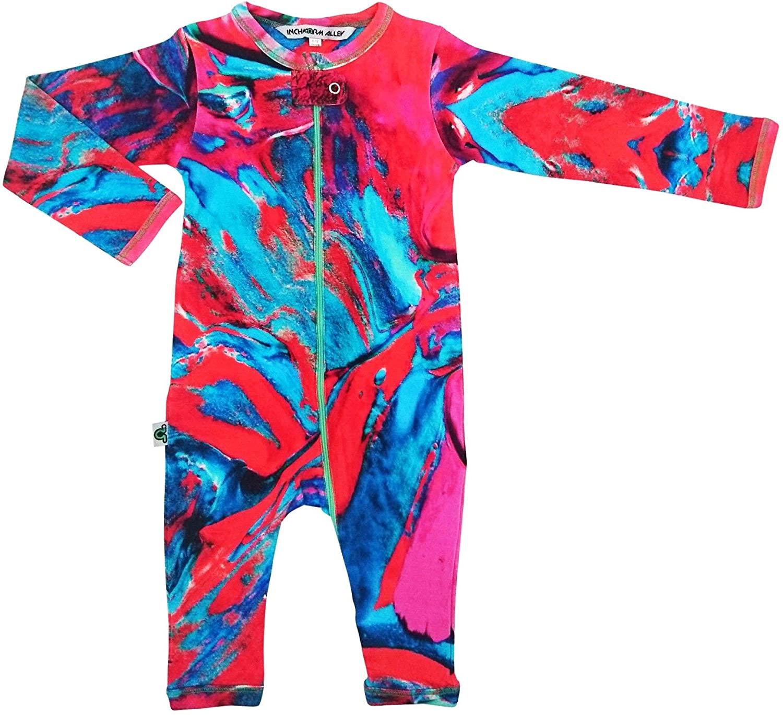 Inchworm Alley Romper - Martinique - Unisex Baby Onesie Jumpsuit Playsuit, 100% Organic Cotton