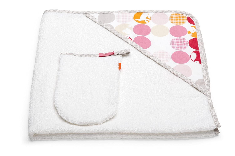 Stokke Hooded Towel, Silhouette Pink