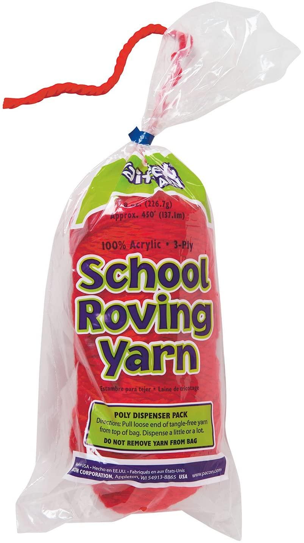 Trait-tex 3-Ply School Roving Yarn Skein, Red, 150 Yards