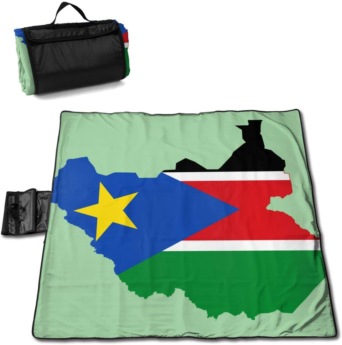 Speed FQ Flag Map of South Sudan Extra Large Beach Blanket Picnic Mat 57