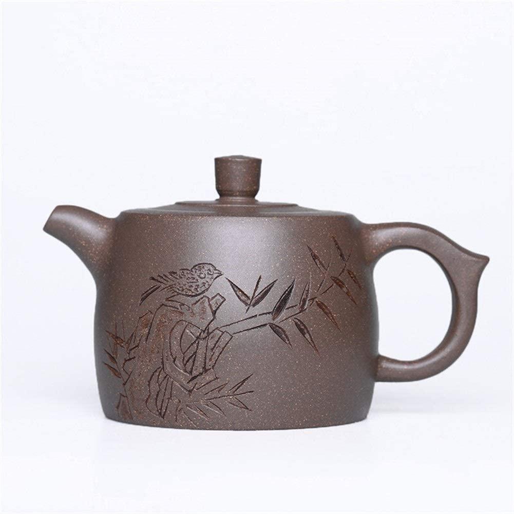 Bin Zhang Teapot, pure hand-teapot single pot, green household segment ore mud kung fu tea (Color : Beige)