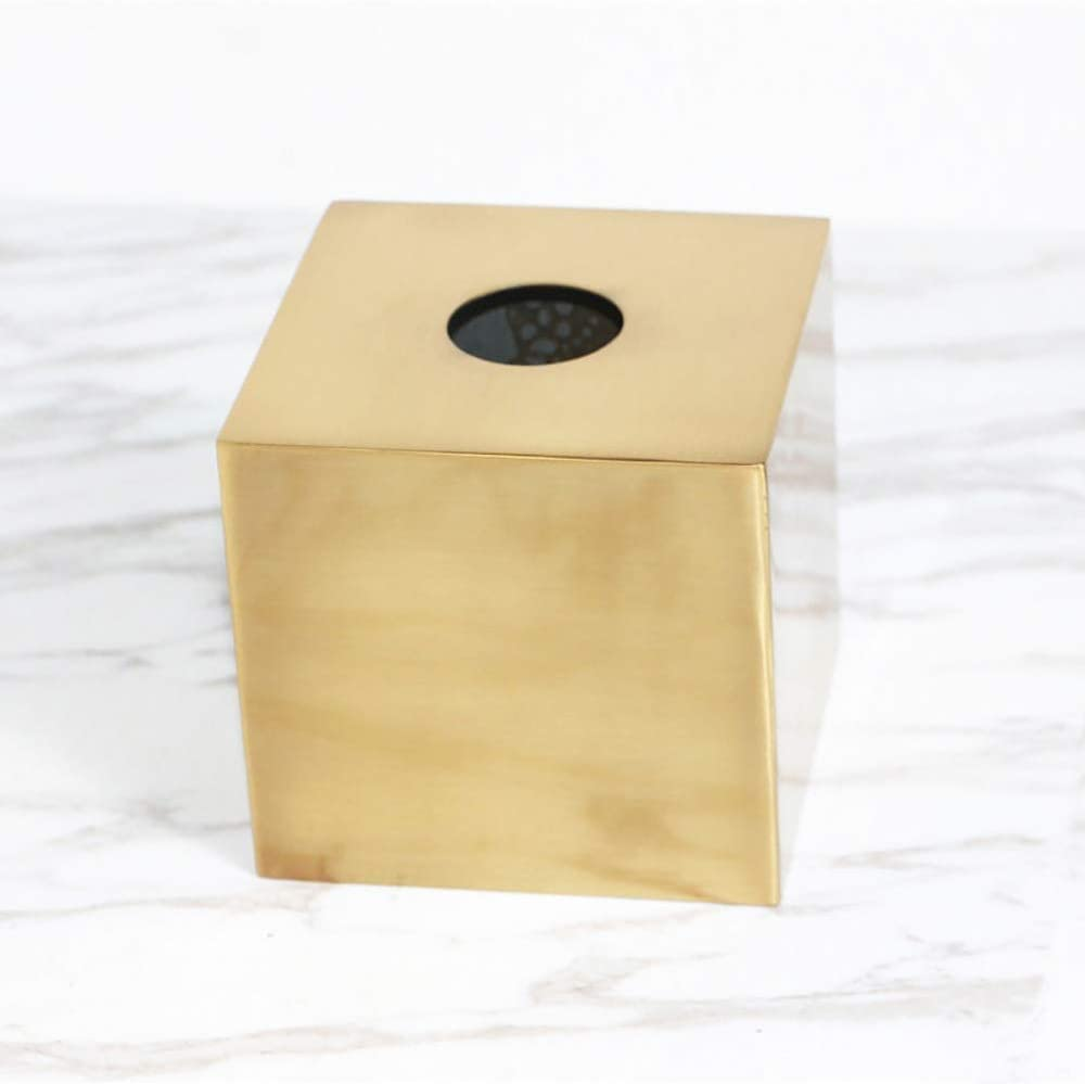 FH Brass Nordic Style Tissue Box Living Room House Tray Tray Gold Creative Home Decoration Ornaments Stylish and Beautiful (Size : C)