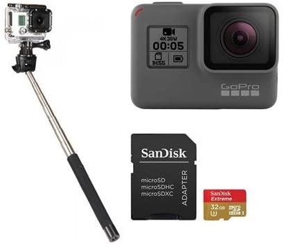 GoPro HERO5 Black - Bundle with 32GB SDHC Card, and Selfie Stick