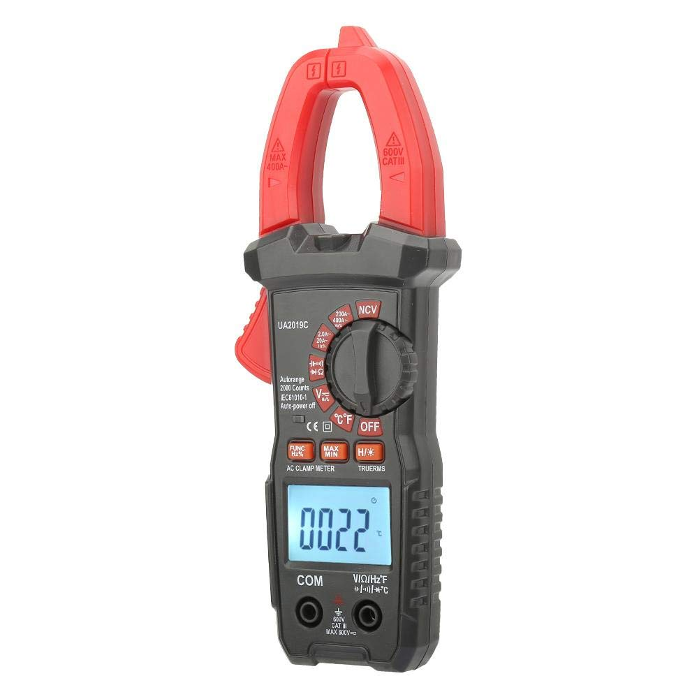 AC DC Clamp Meter, Handheld Auto Ranging AC DC Digital Clamp Meter High Precision for Current Voltage Resistance