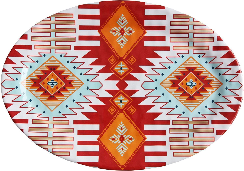 HiEnd Accents Southwest Melamine Serving Platter, 1 PC, 20