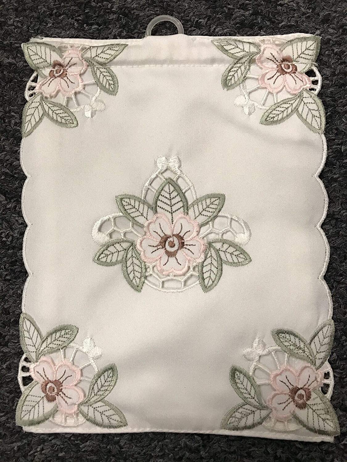 Rosebudd Embroideredd - 12Pieces -Embroidery -Toilet Tissuee Roll Holder- K07