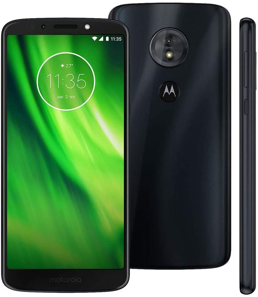 Motorola Moto G6 Play 32GB - Dual SIM 5.7 4G LTE (GSM Only) Factory Unlocked Smartphone International Version XT1922-5 (Deep Indigo)