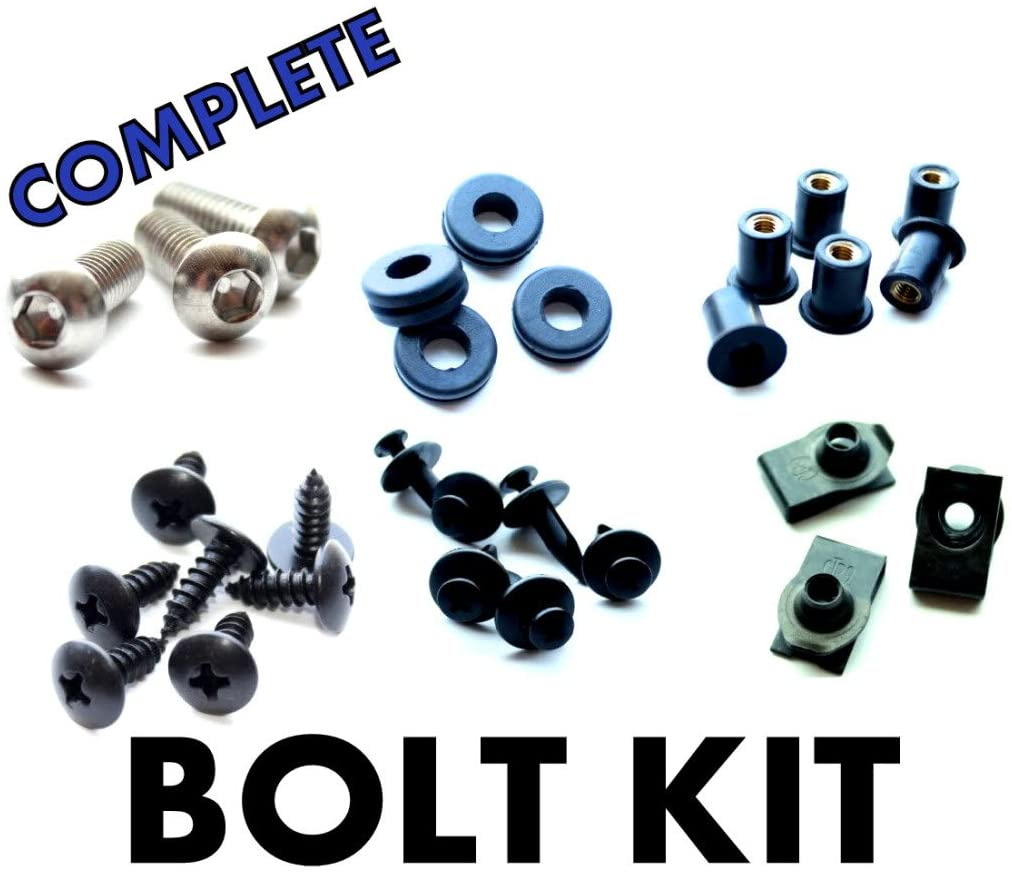 Kawasaki ZZR-1200 02 03 04 05 Motorcycle Fairing Bolt Kit, Complete Screws and Fasteners kit ZZR1200 2002 2003 2004 2005