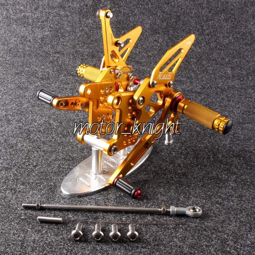 Frames & Fittings New Rearset Rear Set Foot pegs for Speed Triple 1050 2005-2014 Gold