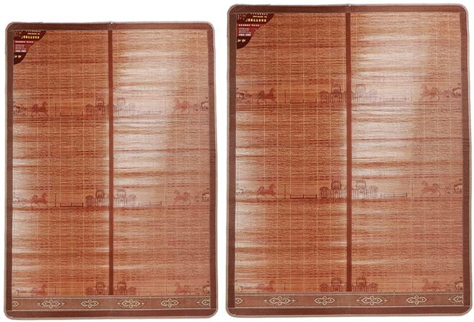 miaomiao Rattan Mattress, Mattress for Cooling Summer Bed Mattress Folding Double Sided Bamboo Folding Bed Mattress Good air Permeability (200 180cm- # 2)