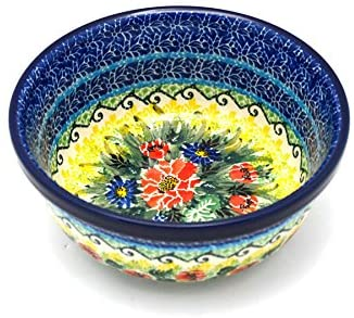 Polish Pottery Bowl - Soup and Salad - Unikat Signature - U4610