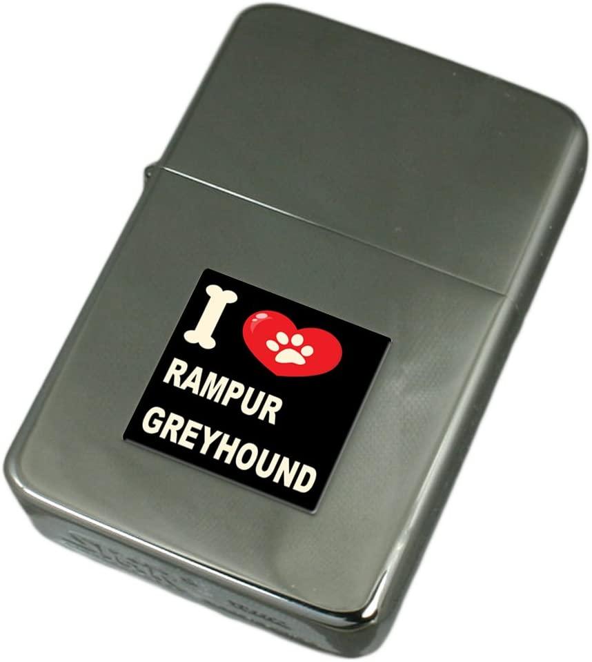 I Love My Dog Engraved Lighter Rampur Greyhound