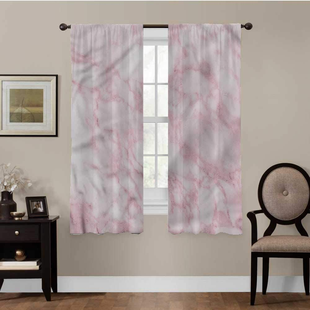 YOYI Marble, Room Divider Curtain Screen Soft Granite Texture Privacy Assured, Set of 2 Panels (36 x 72 Inch)