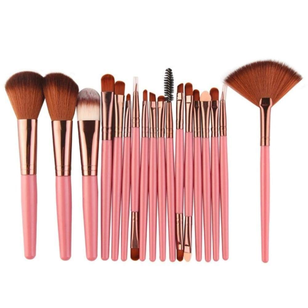 18pcs/set Makeup Brushes Tool Cosmetic Powder Eye Shadow Foundation Blush Blending Beauty Make Up Brush Maquiagem,as picture show
