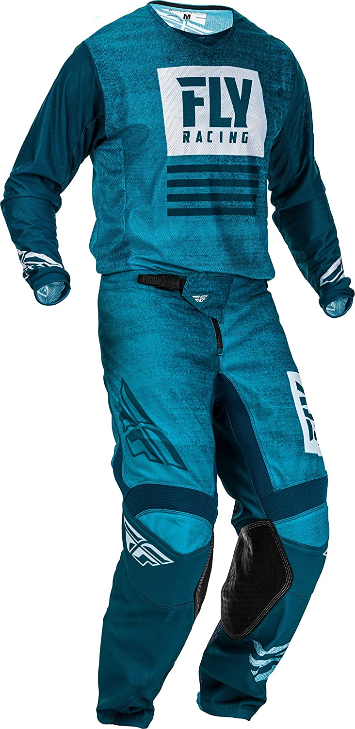 Kinetic Mesh Fly Racing 2019 Men's Motocross Gear Combo (Blue/Navy)