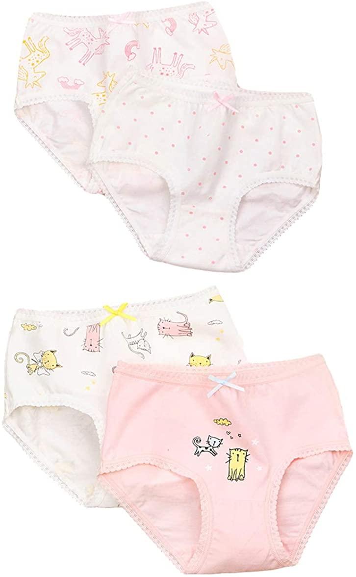 Qiribati Girl's Multipack Briefs Underwear Panties Assorted Panty Bundle Pack of 4
