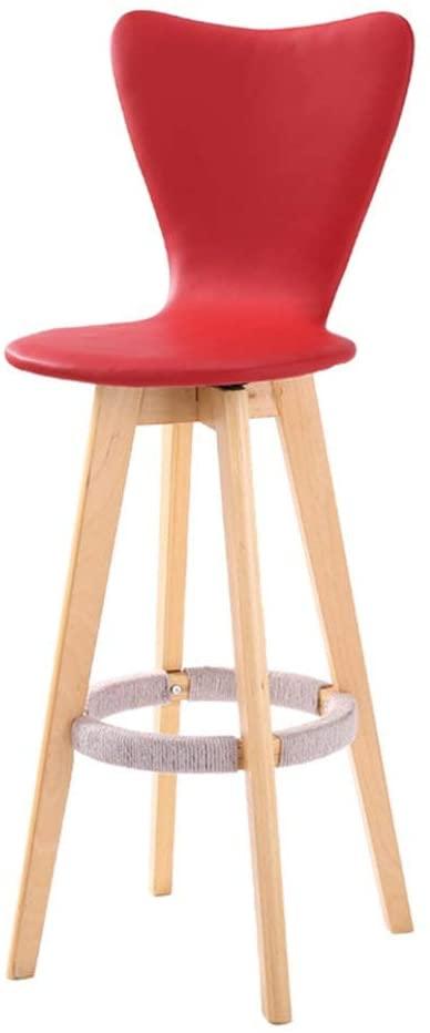 YZjk Solid Wood Armchair, Creative PU Chair High Chair Rotating Chair Restaurant Cafe Hemp Rope Dining Chair Decorative Chair Height 71CM (Color : D)