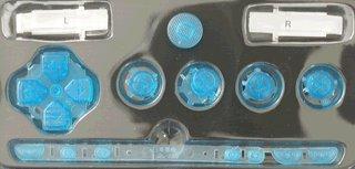 Sony PSP 1000 Series Button Set - Clear Blue [customize] [repair part] [video game][Bulk Packaging]