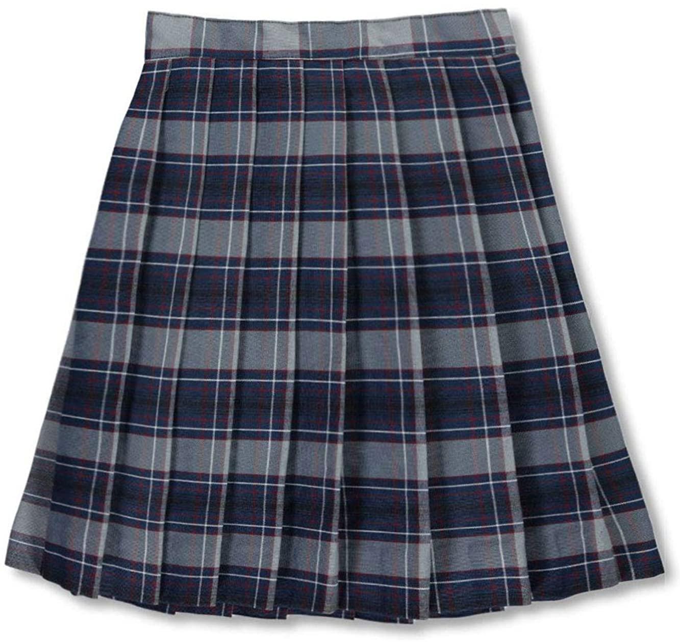 Cookies Big Girls Pleated Skirt - Gray/Royal/Burgundy/whiteplaid #82, 12