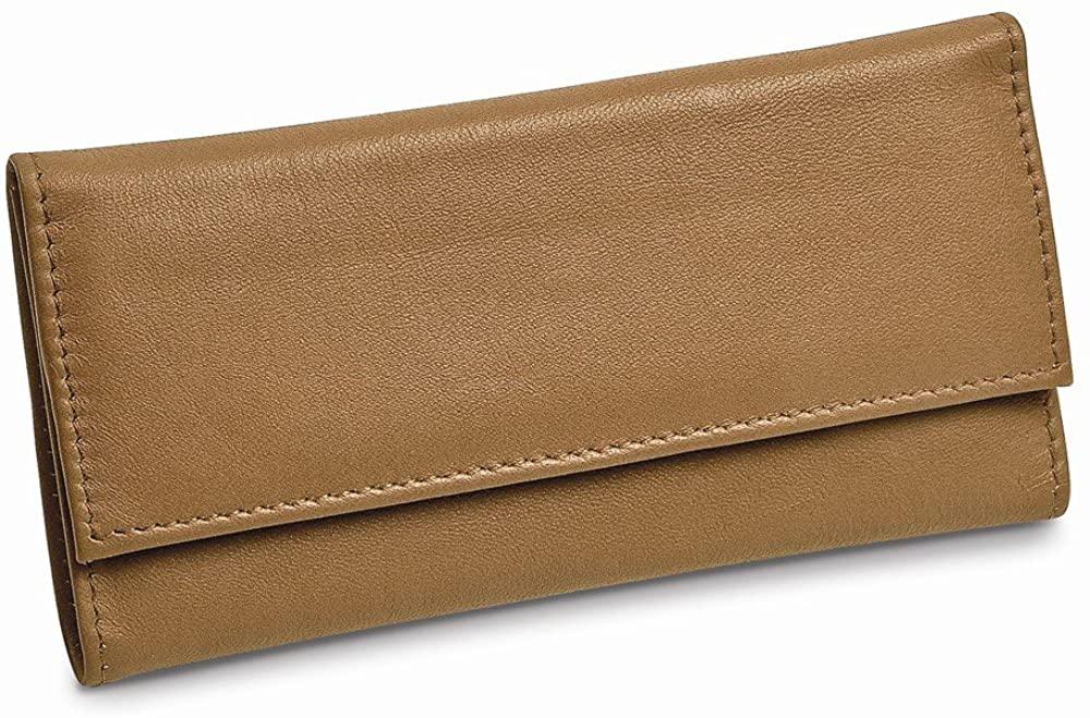 Tan Leather Slim Jewelry Wallet