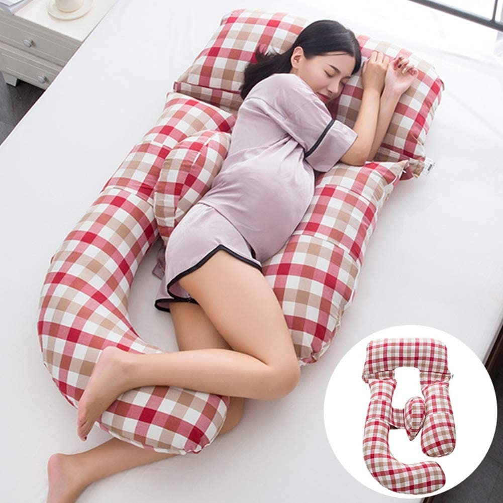 Dianzicar Pregnancy Pillow Detachable Full Body U-Shaped with Cotton Cover Great for Pregnant or Nursing Women or Pain Suffered with Support Back, Hips, Legs